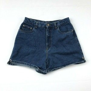 Bill Blass High Rise Dark Wash Mom Jean Shorts
